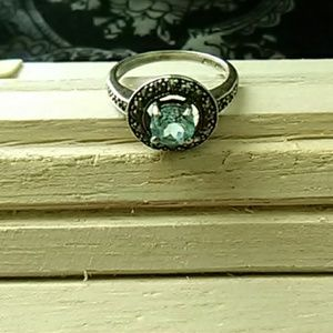 Vintage Blue aquamarine ring